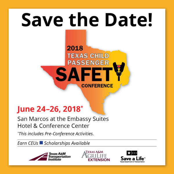 2018 Texas child Safety Conference June 24-26, includes pre-conference activities